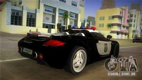 Porsche Carrera GT Police para GTA Vice City deixou vista