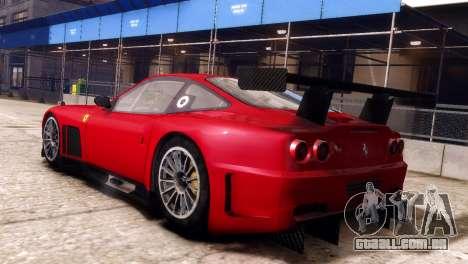 Ferrari 575 GTC para GTA 4 esquerda vista