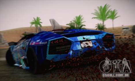 Lamborghini Reventon Black Heart Edition para GTA San Andreas esquerda vista