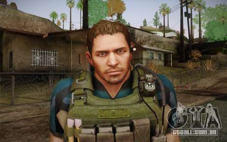 Chris Redfield from Resident Evil 6 para GTA San Andreas terceira tela