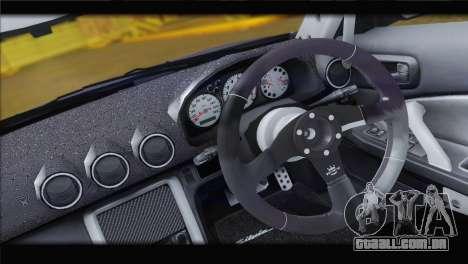 Nissan Silvia S15 Top Flight para GTA San Andreas vista traseira