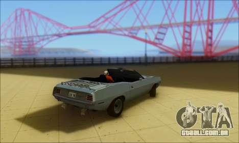 Plymouth Cuda 1970 Stock para GTA San Andreas