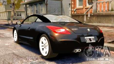 Peugeot RCZ para GTA 4 esquerda vista