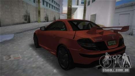 Mercedes-Benz SLK55 AMG Tuned para GTA Vice City deixou vista