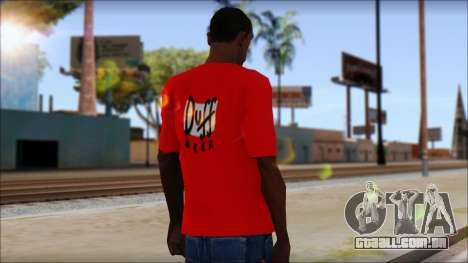 Duff T-Shirt para GTA San Andreas segunda tela