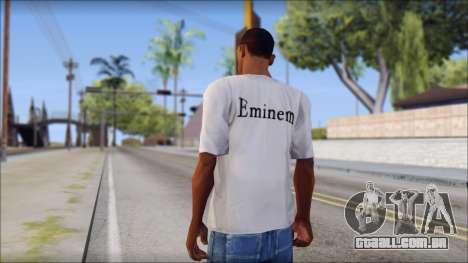 Eminem T-Shirt para GTA San Andreas segunda tela