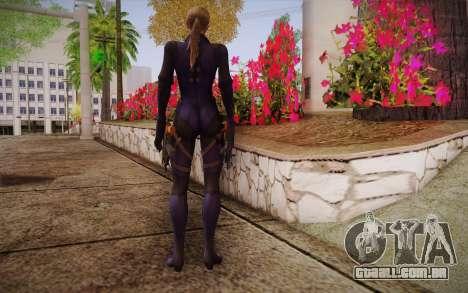 Jill Valentine from Resident Evil para GTA San Andreas segunda tela