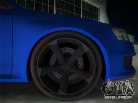 Audi RS6 para GTA Vice City vista traseira esquerda