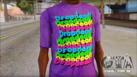 Dropdead T-Shirt para GTA San Andreas terceira tela