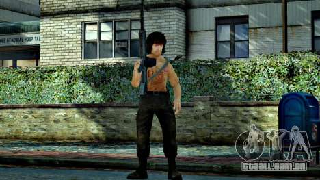 Rambo para GTA 4 por diante tela