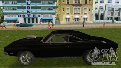 Dodge Charger RT Street Drag 1969 para GTA Vice City vista direita