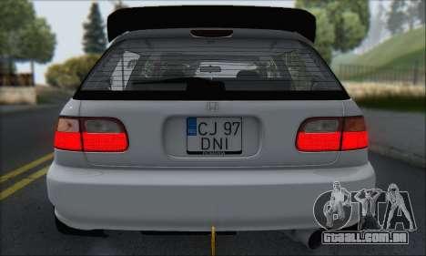 Honda Civic 1995 para GTA San Andreas interior