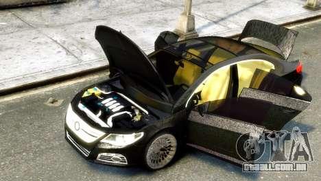 Volkswagen CC para GTA 4 traseira esquerda vista