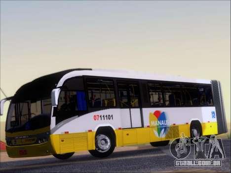 Neobus Mega BRT Volvo B12M-340M para GTA San Andreas vista interior