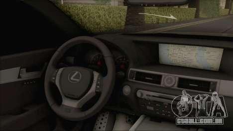 Lexus GS350 para GTA San Andreas traseira esquerda vista