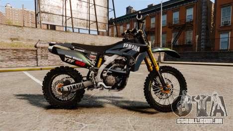 Yamaha YZF-450 v1.12 para GTA 4 esquerda vista
