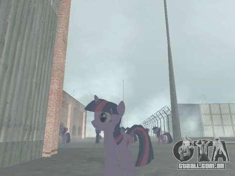 Twilight Sparkle para GTA San Andreas por diante tela