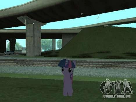 Twilight Sparkle para GTA San Andreas quinto tela