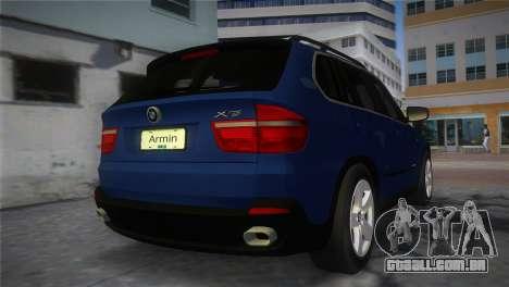 BMW X5 2009 para GTA Vice City deixou vista