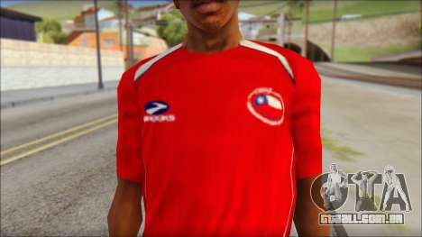 Chile T-Shirt para GTA San Andreas terceira tela