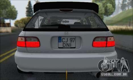 Honda Civic 1995 para as rodas de GTA San Andreas