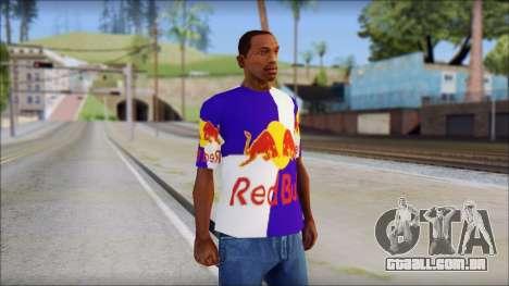 Red Bull T-Shirt para GTA San Andreas