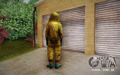 Hazmat Suit from Killing Floor para GTA San Andreas segunda tela
