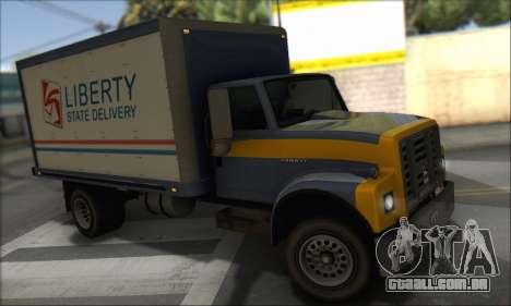 GTA IV Yankee para GTA San Andreas traseira esquerda vista