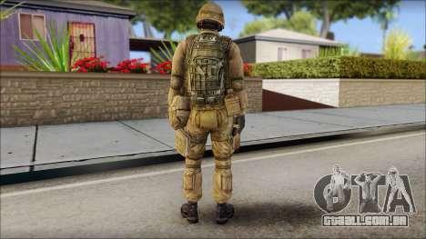 Desert Gafe Soldier Front 2 para GTA San Andreas segunda tela
