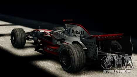 McLaren MP4-23 F1 Driving Style Anim para GTA 4 esquerda vista