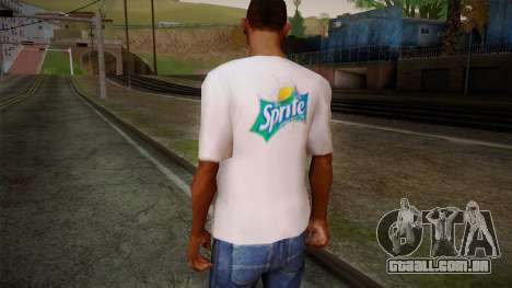 Sprite Shirt White para GTA San Andreas segunda tela