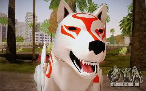 Amaterasu Okami para GTA San Andreas terceira tela