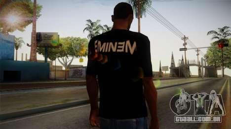 Eminem Fuck Off T-Shirt para GTA San Andreas segunda tela