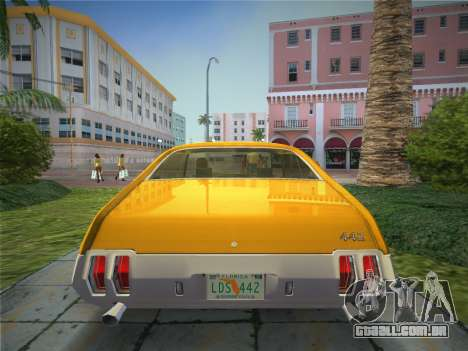 Oldsmobile 442 1970 para GTA Vice City vista traseira esquerda