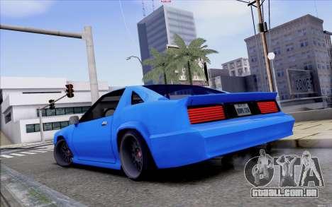 Buffalo Drift Style para GTA San Andreas traseira esquerda vista