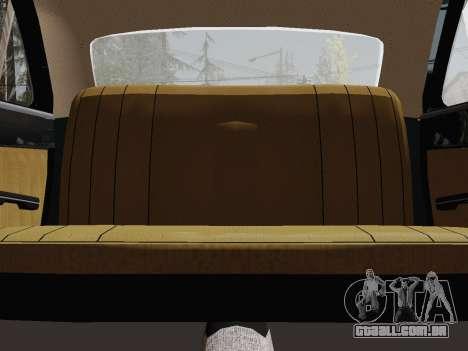 GÁS 24-01 de Limusina para GTA San Andreas vista interior