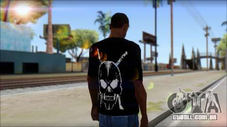 Black T-Shirt wBlack T-Shirt with middle finger para GTA San Andreas segunda tela