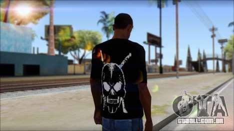 Black T-Shirt wBlack T-Shirt with middle finger para GTA San Andreas segunda tela
