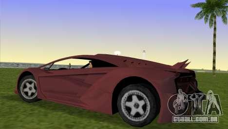 Zentorno from GTA 5 v2 para GTA Vice City deixou vista