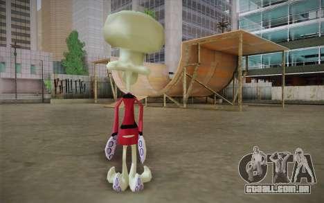 Squilliam from Sponge Bob para GTA San Andreas segunda tela