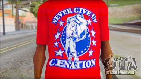 John Cena Red Attire T-Shirt para GTA San Andreas terceira tela