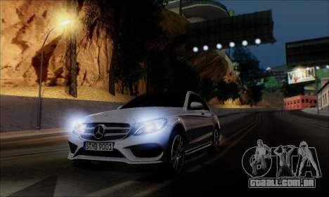 Mercedes-Benz C250 2014 V1.0 EU Plate para GTA San Andreas