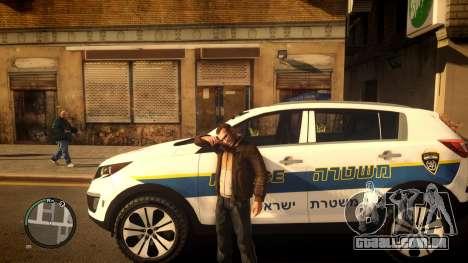 Kia Sportage Israel Police car (Mishtara) para GTA 4 esquerda vista