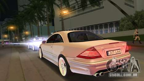 Mercedes-Benz CL65 AMG para GTA Vice City deixou vista