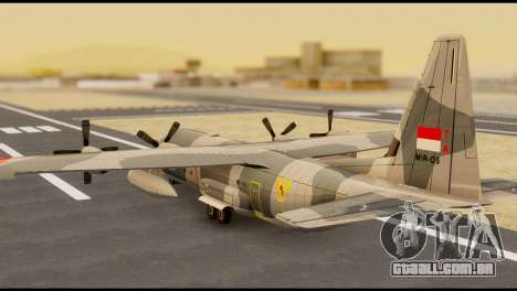 C-130 Hercules Indonesia Air Force para GTA San Andreas esquerda vista