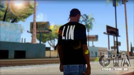 Jeremy Lin BAL-LIN T-Shirt para GTA San Andreas segunda tela