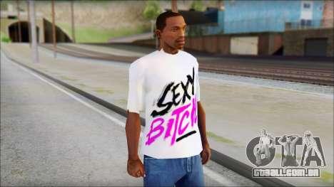 David Guetta Sexy Bitch T-Shirt para GTA San Andreas