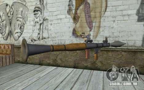 Lançador de foguetes AG7 para GTA San Andreas segunda tela