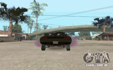 Interceptor para GTA San Andreas traseira esquerda vista