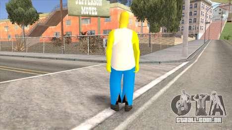 Homer Simpson Skin para GTA San Andreas segunda tela